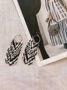 Resin Necklace, Seed Bead Earrings, Fringe Earrings, Beaded Earrings, Beaded Bracelets, Etsy Jewelry, Boho Jewelry, Beaded Jewelry, Jewellery