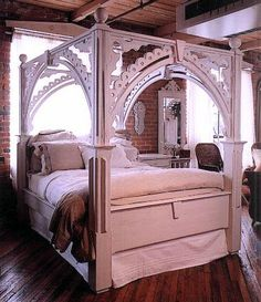 This canopy style bed is fit for royalty.