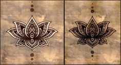 lotus tattoo brown - Google Search