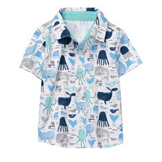 Baby Whales Print Sea Life Shirt by Gymboree