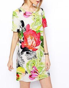 Image 3 of ASOS Botanical T-Shirt Dress
