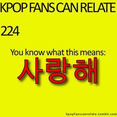 saranghae- I love you!!(:   I'll keep this in mind.