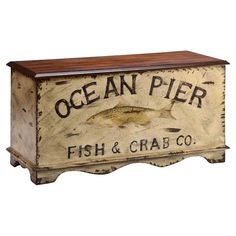 Featuring a coastal-chic motif, this hand-painted chest offers whimsical seaside charm. Use it as your living room coffee table or keep it at the foot of you...