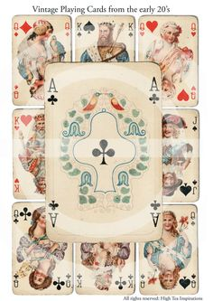 I bought these at The Museum Store at the mall (Destiny USA when it was Carousell Mall) I love the illustrations on these cards. I see myself as the queen of clubs so when you see her in my paintings, she's me.