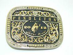 Pendleton 2012 Rodeo belt buckle by RubesRelics on Etsy, $19.85