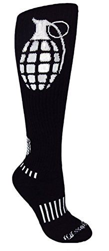 MOXY Socks THE Ultimate Grenade Black KneeHigh Performance Athletic Socks >>> Be sure to check out this awesome product.Note:It is affiliate link to Amazon.