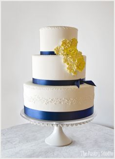 royal blue and canary yellow wedding cake royal blue and canary yellow wedding cake blue and 19345