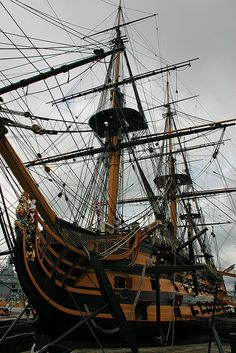 HMS Victory, Portsmouth Royal Navy Dockyards, Hampshire, England