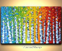 Image result for trees rainbow with forest collections art gcse