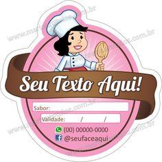 Adesivo Confeiteira Rosa Recorte Especial