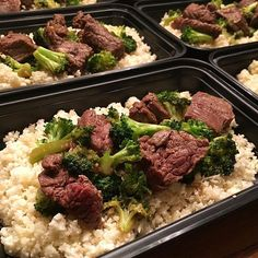 Weekly Meal Prep: Mongolian Beef & Broccoli Over Cauliflower Rice