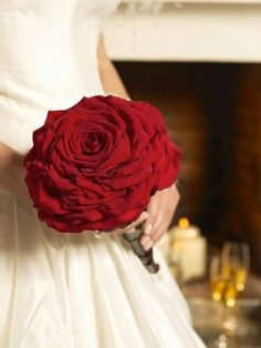 This is it! In a burgundy, this will be my wedding bouquet.