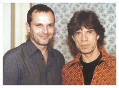 Miguel Bosé con Mick Jagger