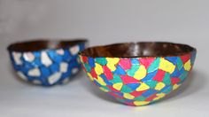 https://www.youtube.com/watch?v=LbTD_S44A7E  Learn how to make coconut bowls step by step in this diy tutorial. These diy coconut shell bowls can be used as decorative pieces in home decor or can be used for storage as a diy ring dish or a trinklets bowl. In this tutorial we have decorated the coconut bowl in a beautiful and colorful mosaic design pattern which came out beautifully.   ♥ ♥ Facebook.com/LittleCraftiesChannel ♥ ♥ ♥ ♥ Instagram.com/swetakindo ♥ ♥