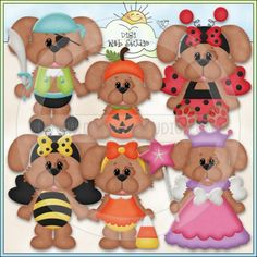 Halloween Costume Dogs 2 - Excl. Kristi W. Designs Clip Art : Digi Web Studio, Clip Art, Printable Crafts & Digital Scrapbooking!