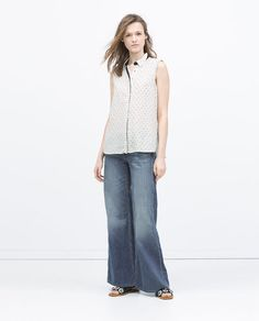 Image 1 of SHIRT WITH PLEATED BACK from Zara