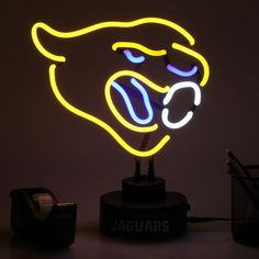 Jacksonville Jaguars Team Logo Neon Light - $69.99