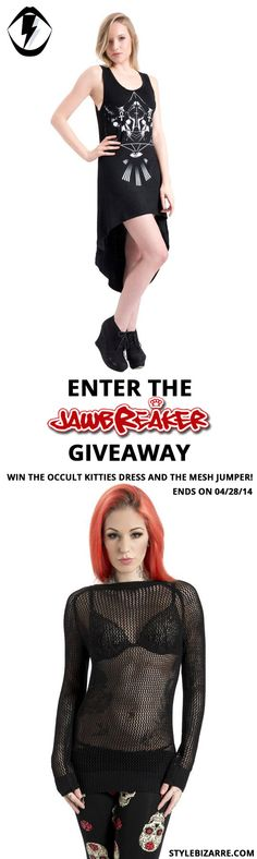 JawBreaker Alternative Clothing Giveaway!  #giveaway #contest #prizes #sweepstakes #fbloggers #jawbreaker #altfashion #alternative