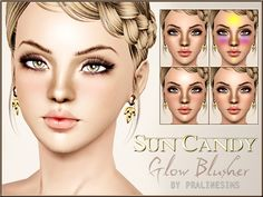 Sun Candy Glow Blusher by Pralinesims - Sims 3 Downloads CC Caboodle