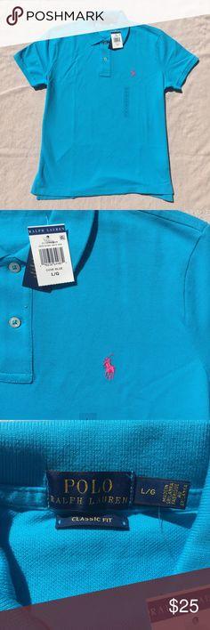 Ralph Lauren Polo Cove Blue, Classic Fit. Hot Pink RL logo. Classic Fit. Polo by Ralph Lauren Tops