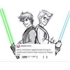 percy jackson star wars au - Google Search >>> The Flappy Bird thing is so true
