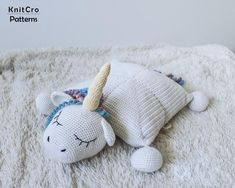 Crochet Rainbow Unicorn Pillow Pattern PDF Crochet Interior | Etsy Crochet Gifts, Crochet Toys, Unicorn Pillow, Photo Pattern, Crochet Unicorn, Crochet Pillow, Baby Pillows, Etsy Crafts, Rainbow Unicorn