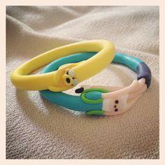 Adventure Time #Finn and #Jake #Handmade bracelets :) <3