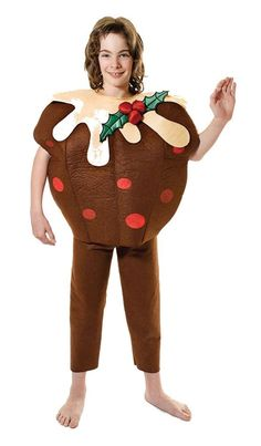 FESTIVE CHRISTMAS XMAS PUDDING COSTUME FITS 5-7 Years Medium  Kids Fancy Dress