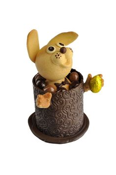 """Easter time! Meet Magic """"Mister Lapin"""", a Christophe Roussel's creation for the chocolate bar of the Cadran Hotel!    http://www.cadranhotel.com/"""