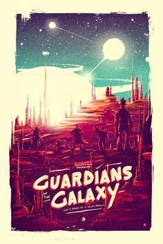 «Стражи Галактики». Художественные постеры: Часть 2 | GeekCity