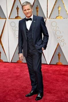 """Viggo Mortensen, nominee for best performance by an actor in a leading role for """"Captain Fantastic,"""" wearing Dior Homme."""