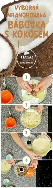 Připravte si podle našeho videoreceptu výbornou mramorovou bábovku s kokosem!