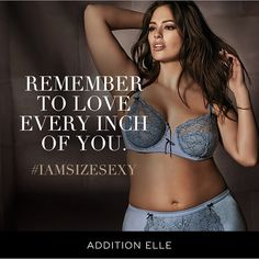"""✨#IAmSizeSexy✨ Ashley Graham Lingerie for @AdditionElle in stores and online now. G & H cups available! AshleyGrahamCollections.com"" Photo taken by @theashleygraham on Instagram, pinned via the InstaPin iOS App! http://www.instapinapp.com (04/17/2015)"