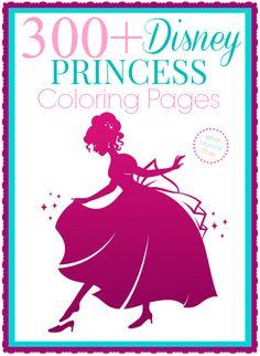 Print out these cute free printable Disney Princess coloring sheets - Ariel, Belle, Elsa & Anna from Frozen, Rapunzel & Snow White, Aurora, Sofia & more!