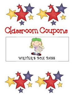 "FREE from Michelle Harper on TpT. Easy to use ""coupons"" for your classroom to assist with positive reinforcement. These ""coupons"" are good for extra D.E.A.R. time (Drop Everything and Read), computer time, a night free of homework, changing seats for a day,"