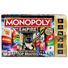 Monopoly Empire Board Game Own Top Brands Family Game Night Family Game Night, Family Games, Games For Kids, Kid Games, Monopoly Board, Monopoly Game, Sorry Board Game, Board Games, Xbox