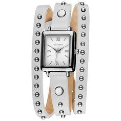 Vernier Women's Fashion Round Studded White Genuine Leather Triple Wrap Watch - Overstock™ Shopping - The Best Prices on Vernier Vernier Women's Watches