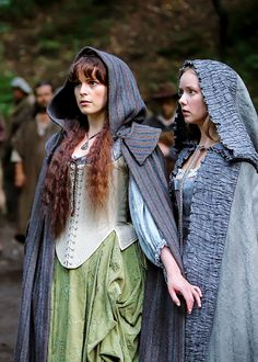 Constance Bonacieux and Queen Anne - Tamla Kari and Alexandra Dowling in The Musketeers, set in the 1630s (BBC TV series).