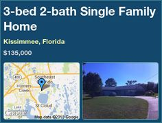 3-bed 2-bath Single Family Home in Kissimmee, Florida ►$135,000 #PropertyForSale #RealEstate #Florida http://florida-magic.com/properties/4495-single-family-home-for-sale-in-kissimmee-florida-with-3-bedroom-2-bathroom