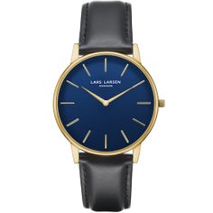 OLIVER · Mens watch · Gold with blue dial