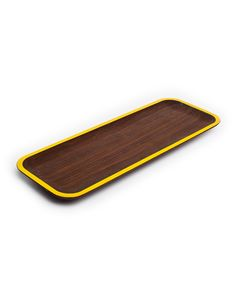 Drawing from modern Danish design, each piece in David Rasmussen's collection starts with a solid piece of wood and is slowly transformed into a simple elegant tray. The smooth lines and colorful trim ...  Find the WUD Tray - Yellow, as seen in the Shades of #Turmeric Collection at http://dotandbo.com/collections/shades-of-turmeric?utm_source=pinterest&utm_medium=organic&db_sku=DRD0005-yw