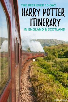 The Ultimate 10-Day Harry Potter Itinerary to see top sights in England and Scotland. Perfect for Harry Potter fans! Includes London, Oxford, Edinburgh & the Jacobite Steam Train. via @valerievalise/