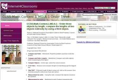 CCSS.Math.Content.1.MD.A.1  Order Three Objects By Length; Compare