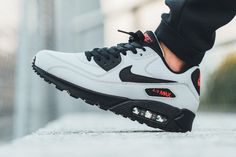 sweetsoles: Nike Air Max 90 Essential - Wolf Grey/Black (by titolo) Buy from Nike US / Caliroots / eBay