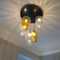 Stiffkey Blue, Dropped Ceiling, Light Project, Pendant Lights, Bespoke, Ceiling Lights, Plates, Lighting, Retro