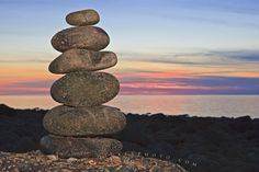 Photo of Stone formation along the beach at Delaps Cove during sunset over the Bay of Fundy, Nova Scotia.