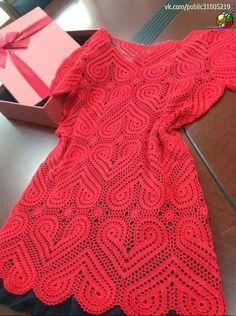 Melhor do Crochê: Vestido crochê com gráficos