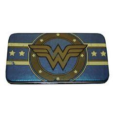 Amazon.com: Wonder Woman Classic Distressed Logo Hinge Wallet: Clothing