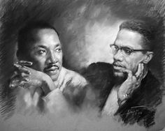 martin luther king jr and malcolm x | Martin Luther King Jr And Malcolm X Drawing - Martin Luther King Jr ...