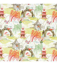 My Dream Drapery fabric!! Home Decor Print Fabric- Robert Allen  Neo Toile / Coral